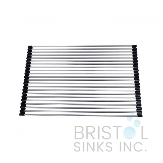 Stainless Steel Over the Sink Multipurpose Roll-Up Drain Rack