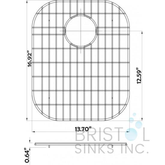 BG802 - Stainless Steel Grid Large