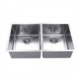 B1611 16 Gauge 20MM Radius Stainless Double Sink