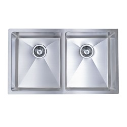 B927 Undermount Double Sink with 15mil Radius Corners