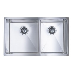 B928 Undermount Double Sink with 15mil Radius Corners