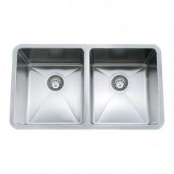 B1607 Undermount Double Bow Sink with 20mm Radius Corners