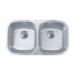 B411 16 Gauge Stainless Double Sink