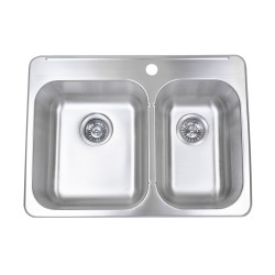 B212  20 Gauge Stainless Double Sink