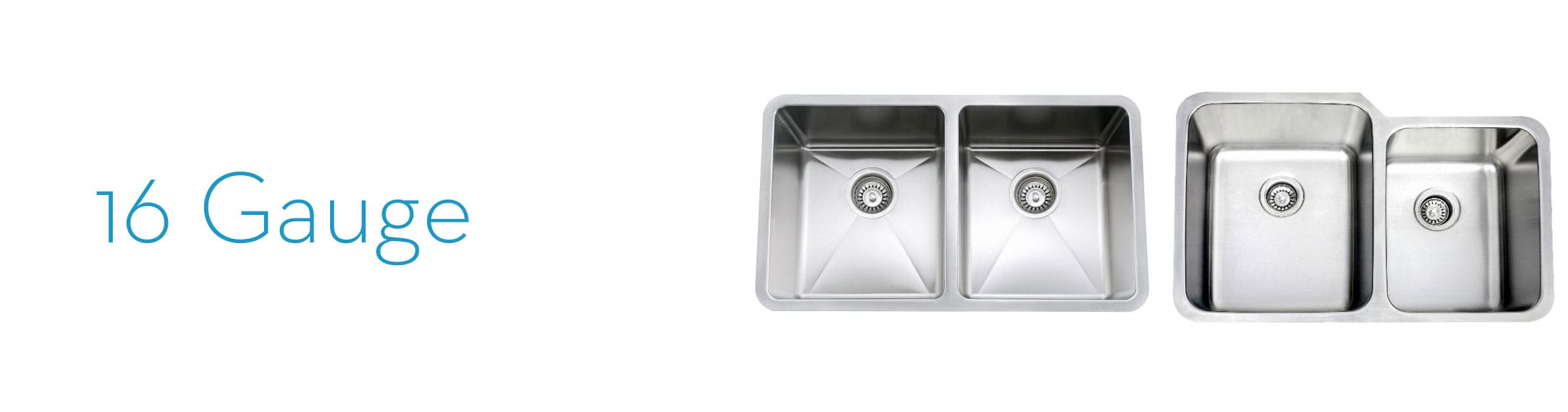 Double and Single Bowl 16 Gauge Stainless Sink